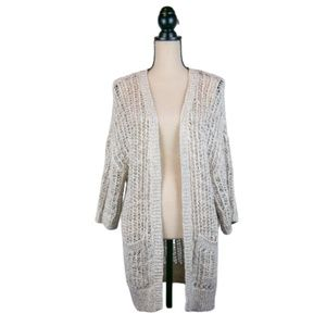 Free People Loose-Knit Open Front Cardigan Size S